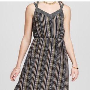 XL Striped Ft Long Maxi Dress